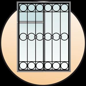 Кованые оконные решетки