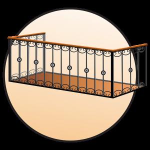 Кованые балконы (ограждения)