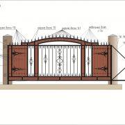 1 кованые откатные ворота 4