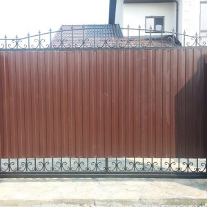 2 кованые откатные ворота 1
