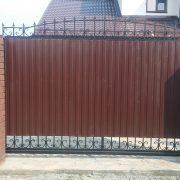 2 кованые откатные ворота 2