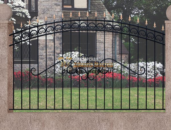 21 кованый забор