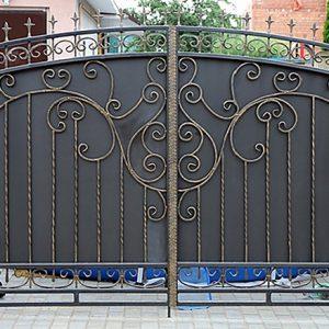 24 кованые ворота