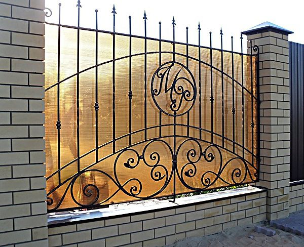 28 кованый забор