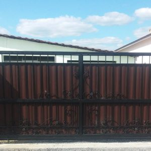 3 кованые откатные ворота 1