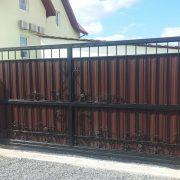 3 кованые откатные ворота 2