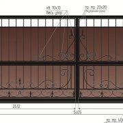 3 кованые откатные ворота 3