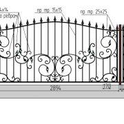 3 кованый забор