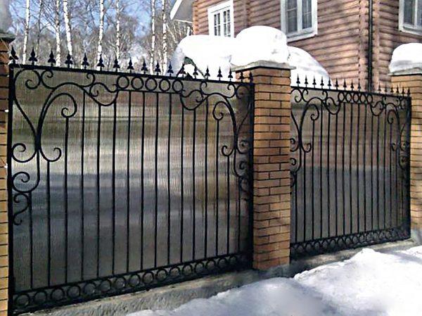 30 кованый забор