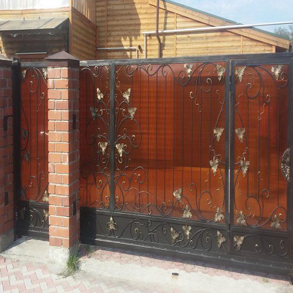 4 кованые откатные ворота 1