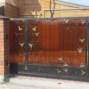 4 кованые откатные ворота 2
