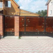4 кованые откатные ворота 4