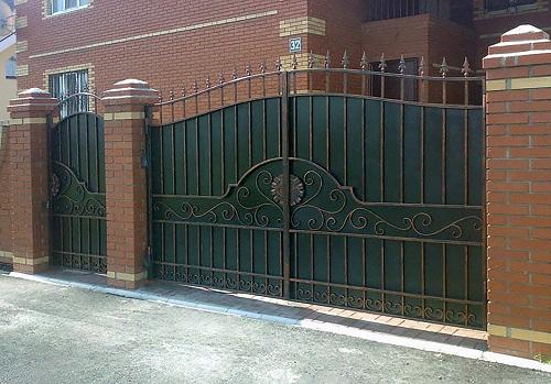 40 кованые ворота