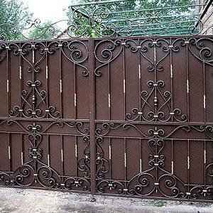 5 кованые ворота