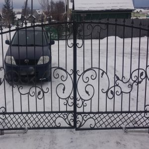5 кованые распашные ворота 1