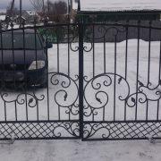 5 кованые распашные ворота 2