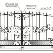 5 кованые распашные ворота 4