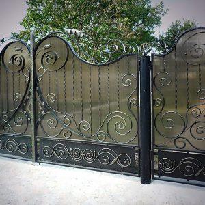 6 кованые ворота