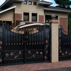 87 кованые ворота