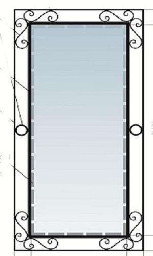 кованая рама для зеркала 016-1