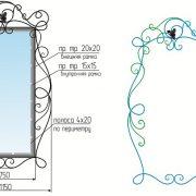 кованая рама для зеркала 017-2