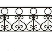ограда ритуальная ОК-1 1