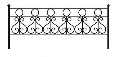 ограда ритуальная ОК-1