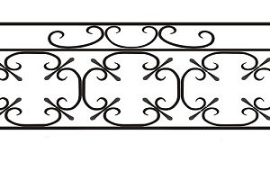 ограда ритуальная ОК-2