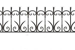 ограда ритуальная ОК-3