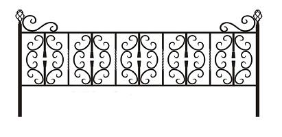 ограда ритуальная ОК-4
