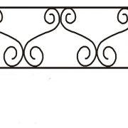 ограда ритуальная ОП-1 1
