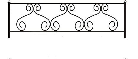 ограда ритуальная ОП-1
