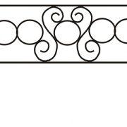 ограда ритуальная ОП-2 1
