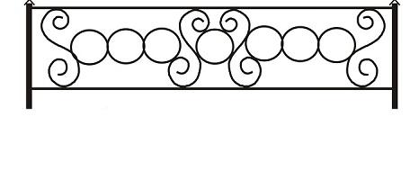 ограда ритуальная ОП-2