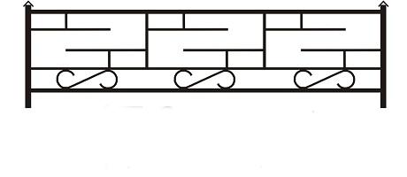 ограда ритуальная ОП-3