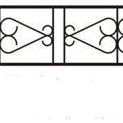 ограда ритуальная ОП-4 1