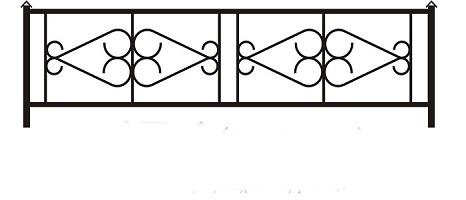 ограда ритуальная ОП-4