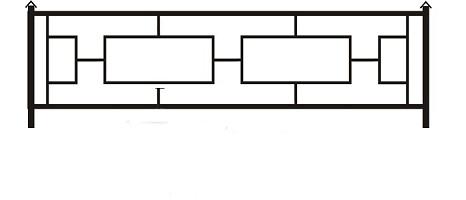 ограда ритуальная ОП-5