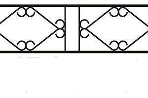 ограда ритуальная ОП-6