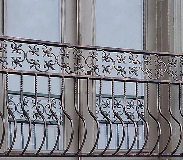 17 кованый франзуцский балкон
