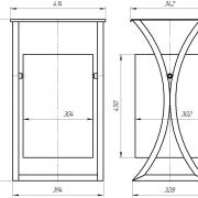 Urna na dugah v klassicheskom dizayne